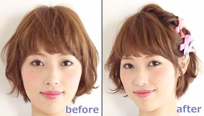 浴衣 髪型 ショート ヘアアレンジ10