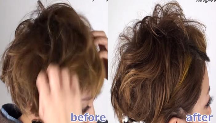浴衣 髪型 ショート ヘアアレンジ6