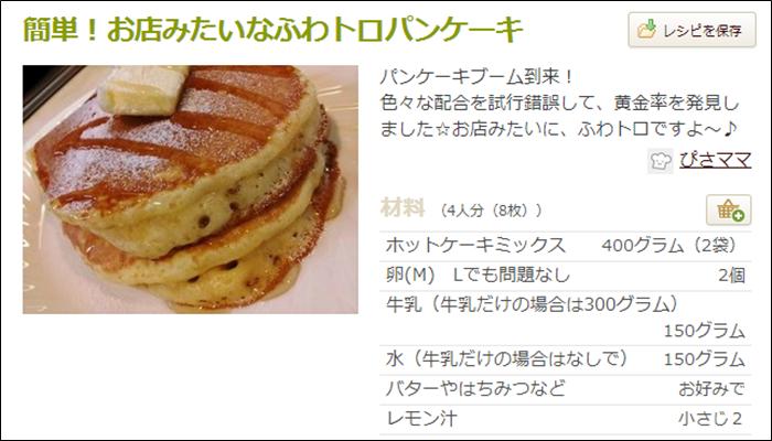 朝食 簡単レシピ おすすめ パンケーキ