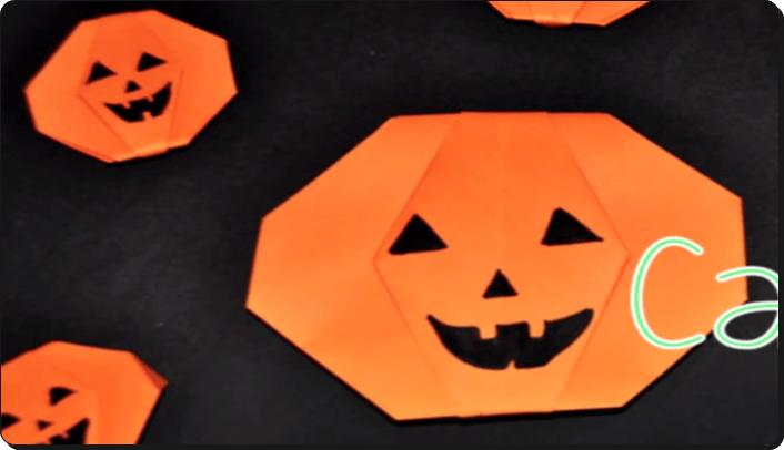 ハロウィン 折り紙 かぼちゃ 簡単