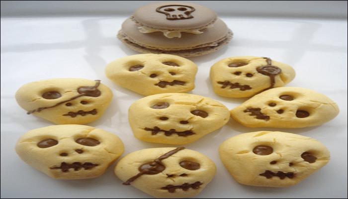 ハロウィン お菓子レシピ ドクロクッキー