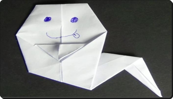 ハロウィン 折り紙 おばけ