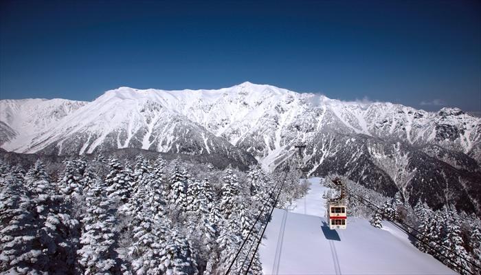 冬にすること ロープウェイで山登り