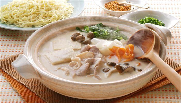 冬 料理 豆乳鍋