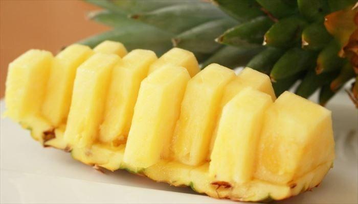 春 料理 パイナップル