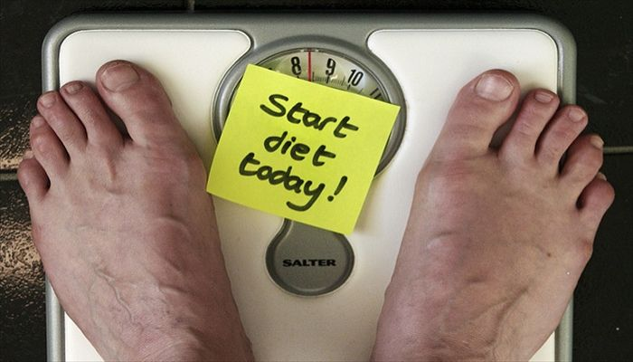 簡単なダイエットでの体重の変化