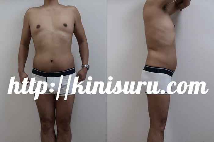 ダイエットのビフォーアフター画像 4ヶ月目の比較画像