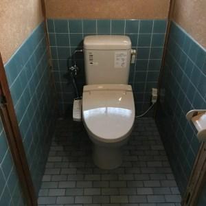 トイレリフォーム後画像。簡易水洗便器にリフォーム