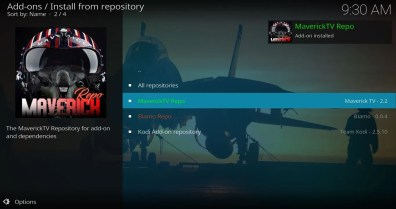 Add-ons Install from repository Maverick Repo
