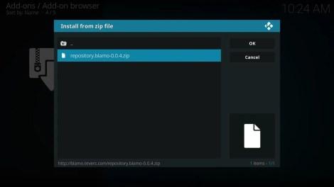 Install from zip file Blamo repo zip