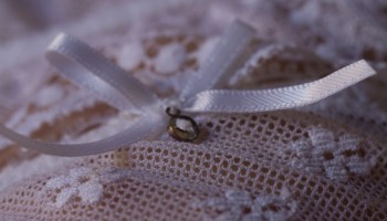 whote lace and bow for post about lace and kink