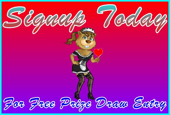 Kinky-Beaver Signup for Free Prize Draw Entry - Navigation Support Banner