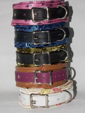Here is quite the stack of collars. As you can see I have quite the collection of colors. All collars and other restraints come with quality hardware. They can even be customized with locking or non locking buckles.
