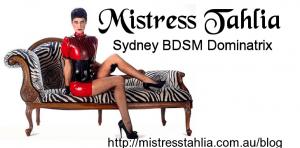 Mistress Tahlia Australian fair dinkum bondage mate