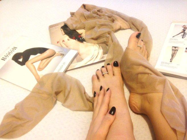 Sexy bare feet nylon Goddess