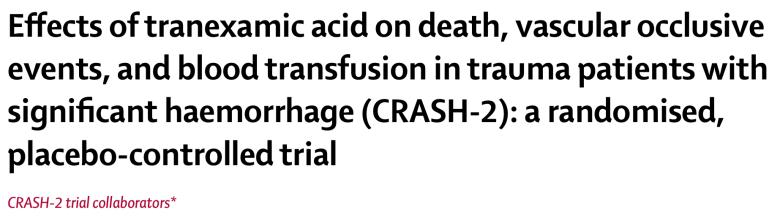 Tranexamic Acid in Trauma. CRASH-2 Title clip.