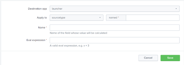 Figure 2 - Calculated Field from Splunk Web