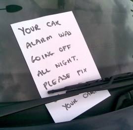 Car Alarm Note