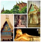 Buddhism is a very important part of the religion at Thailand. Near Krabi we visited the sleeping Buddha where we were amazed looking at the architecture of the temples and the numerous colours that give it such a distinct look.