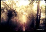Walking alongside the railway tracks at the Matheran Hillstation.  The Journey.. The Hope.. Life <3