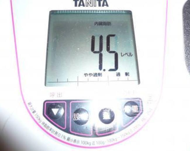 トマトジュースダイエット記録6日目の内臓脂肪レベルは