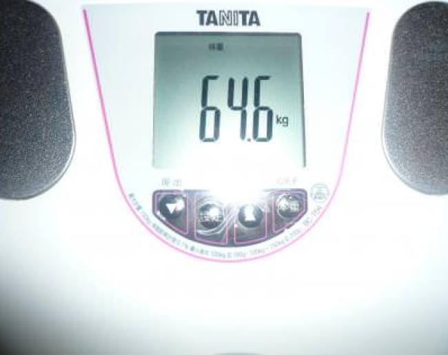 1ヶ月目終了の体重