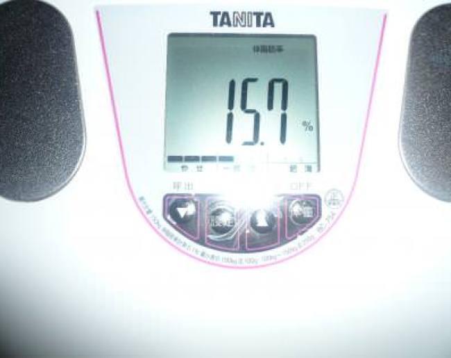 1ヶ月目終了の体脂肪