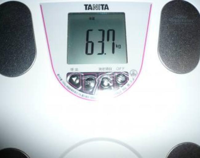 2ヶ月目終了の体重