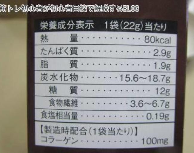 黒糖きなこビスケット成分表