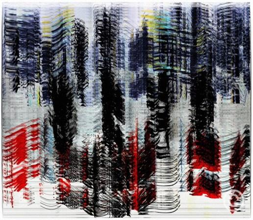 AABA 123 - MIX 5 (Bleu, Blanc, Rouge) Large Print [150cm x 130cm] Acetate © Prosper Jerominus, 2017