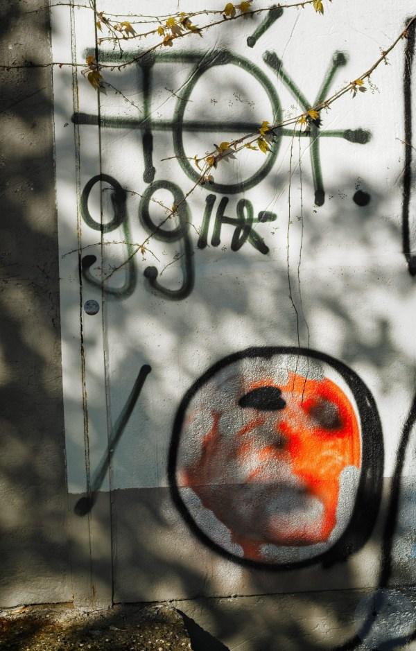 Along the wall - #5 The masked Scream Invalidenfriedhof, Berlin (1748-)