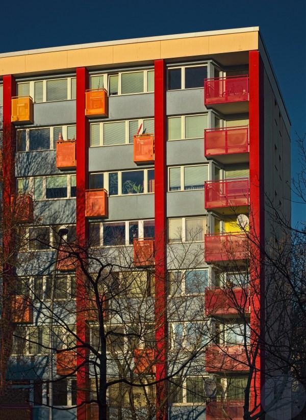 Orange crazy balconies