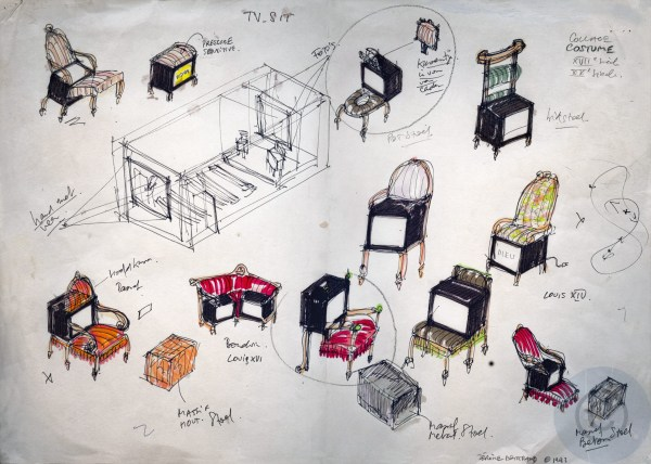 Multi-media installation sketches for a portrait project on the life and work of Le Corbusier's photographer Lucien Hervé (1910-2007)