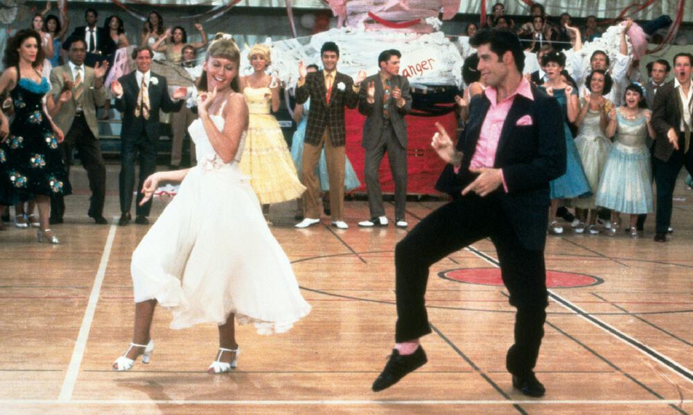 Grease -Klub winowajców - najlepsze filmy oszkole. Scena tańca nabalu.