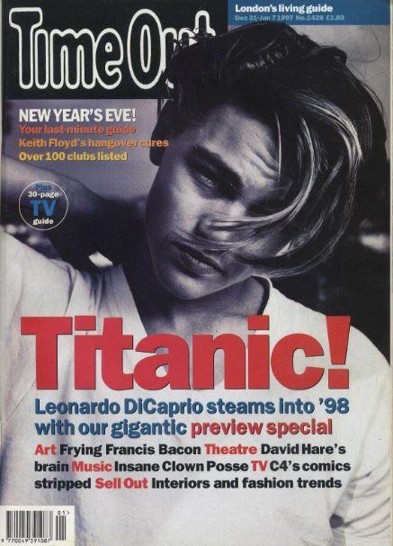 "Leonardo Dicaprio młody naokładce ""Time out"""