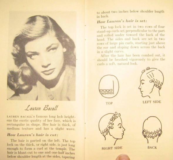 lauren bacall wprasie kolorowej fryzura