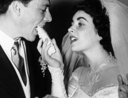 Gwiazdy z największą liczbą małżeństw. Hollywood. Elizabeth Taylor i jej pierwszy ślub.