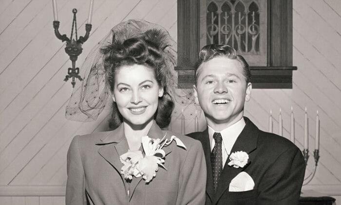 Mickey Rooney iAva Gardner (1942). Gwiazdy znajwiększa liczbą małżeństw nakoncie.