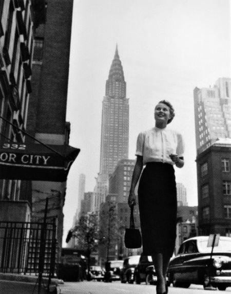 Grace Kelly wNowym Jorku podkoniec lat 40.