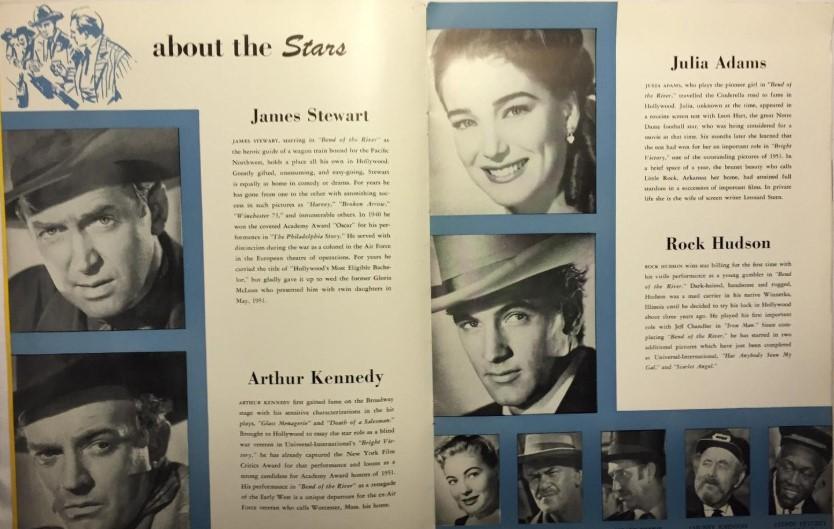 Materiał prasowy, reklamujący film Zakole rzeki - Rock Hudson James Stewart