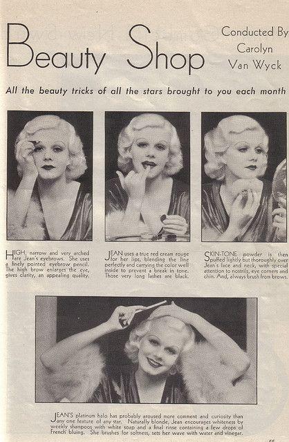 Jean Harlow wmagazynie, rok 1932
