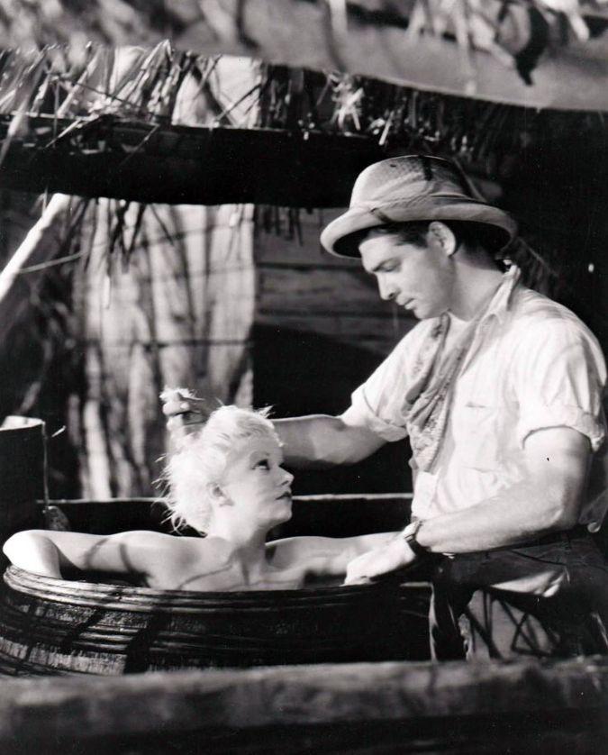 """Jean Harlow iClark Gable wkadrze zfilmu """"Red dust"""""""