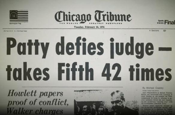 """Pierwsza strona Chicago Tribune - """"Patty sprzeciwia się sędziemu - bierze piątą poprawkę 42 razy"""""""
