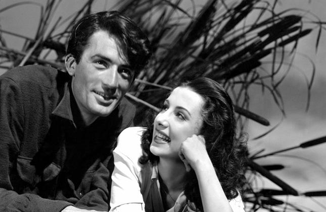 """Gregory Peck zTamarą Toumanovą naplanie filmu """"Dni chwały"""""""