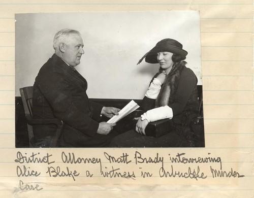 Alice Blake iprokurator Matthew Brady