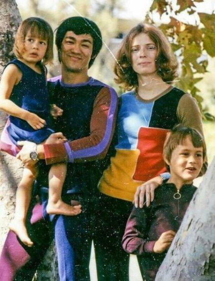 Bruce iLinda Lee zdziećmi: Shannon iBrandonem