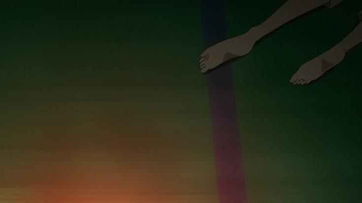Kaori saat memaksakan dirinya untuk berdiri