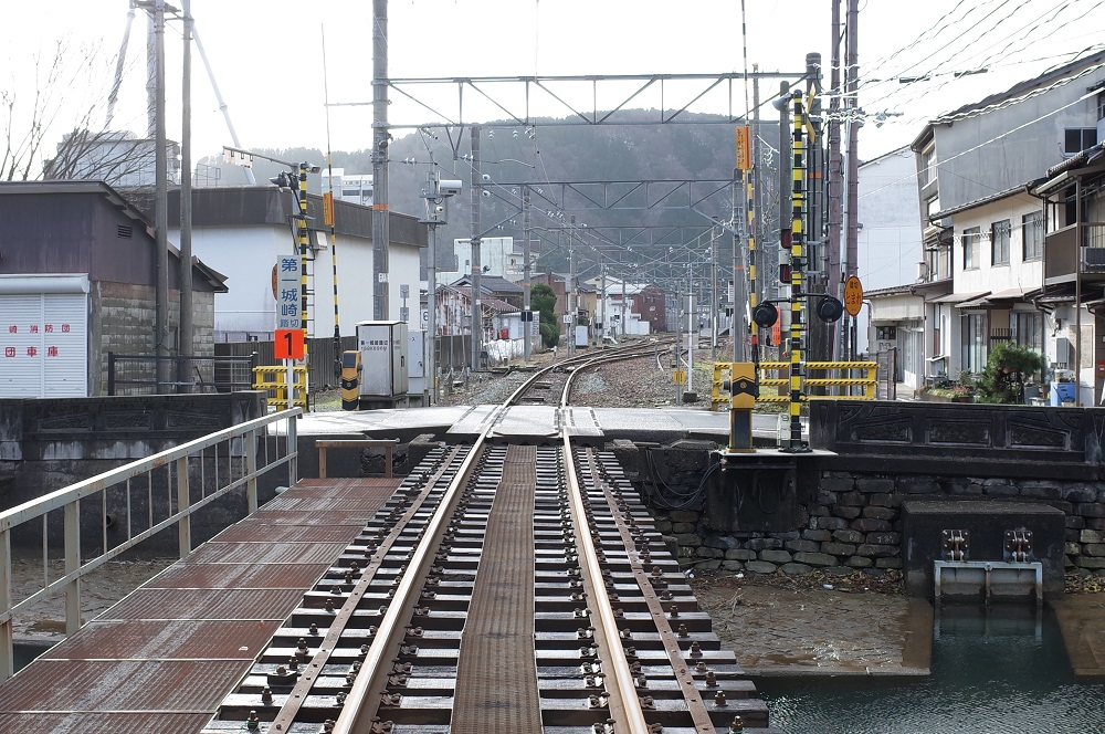 城崎温泉駅側の風景