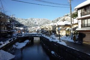 城崎温泉 雪景色
