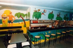 Peinture murale, détail - Artistic mural, detail - Bar Éphémère 1988